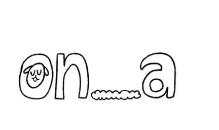"""""""on_a"""", v katerem je v o-ju slika bitja z visečimi ušesi"""